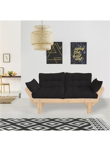 Woodesk Toro Masif Natural-Siyah Renk 2Li Kanepe Siyah